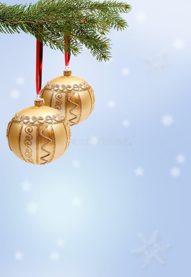 Colgante de las decoraciones de la Navidad imagenes de archivo