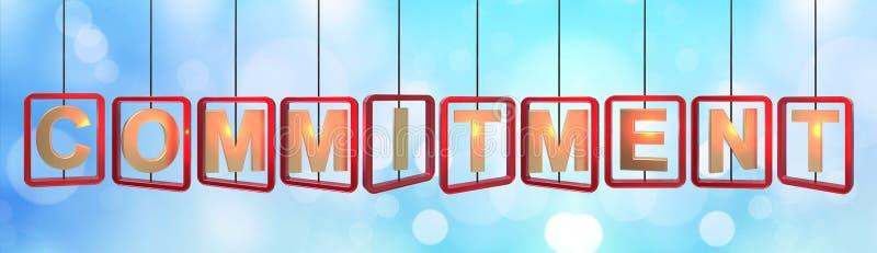 Colgante de las letras de compromiso ilustración del vector