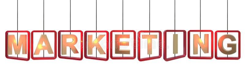 Colgante de las letras de márketing stock de ilustración