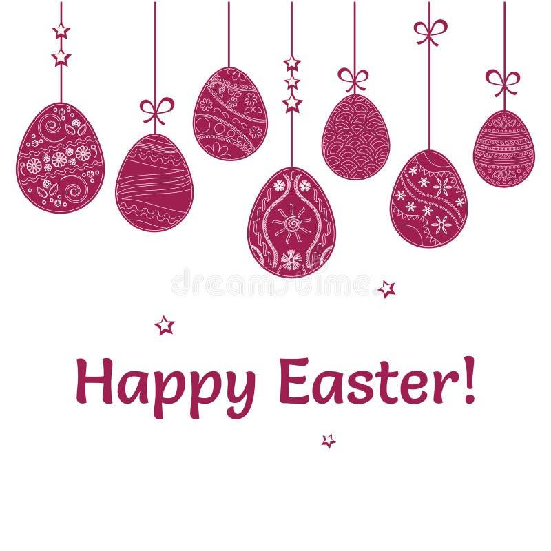 Colgante de los huevos de Pascua Ilustración del vector libre illustration