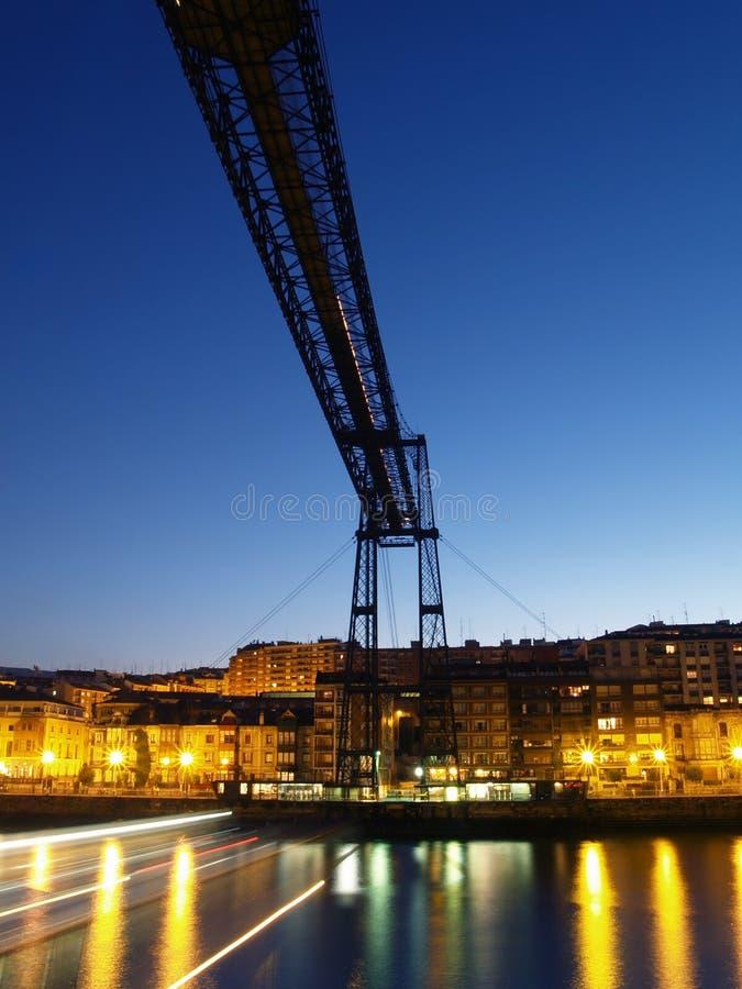 Colgante de Vizcaya de Puente imagen de archivo