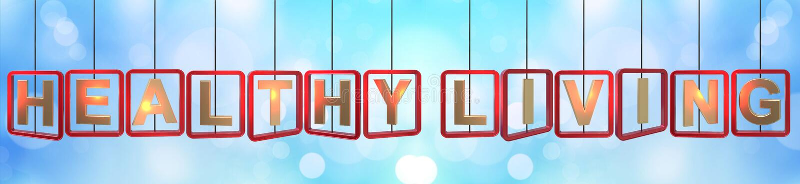Colgante vivo sano de las letras ilustración del vector