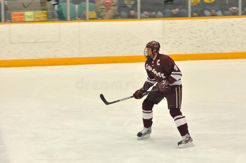 Colgate player in NCAA Ice Hockey Game