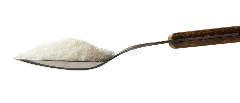 Colher completamente do açúcar imagem de stock