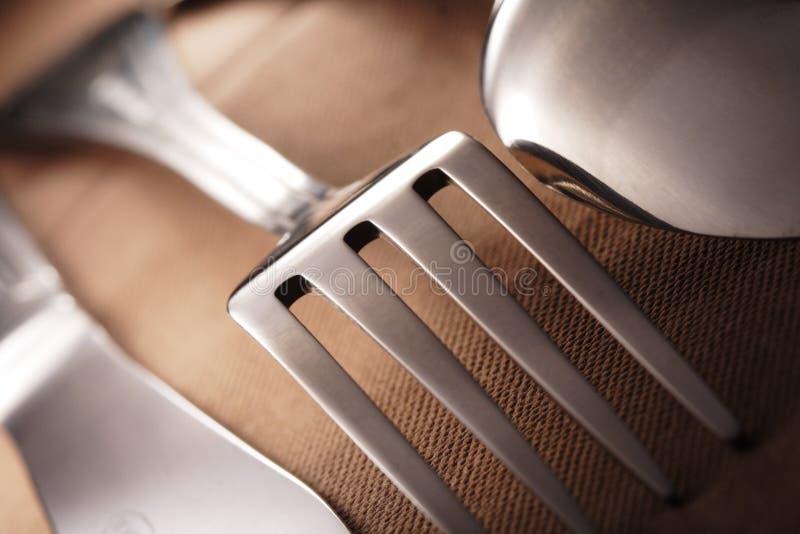 Colher da faca da forquilha imagem de stock royalty free