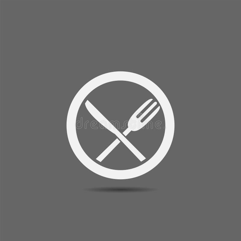 Colher da faca da forquilha ilustração do vetor