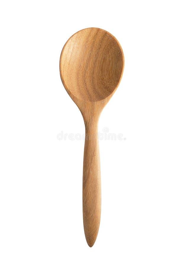 Colher de madeira fotografia de stock royalty free
