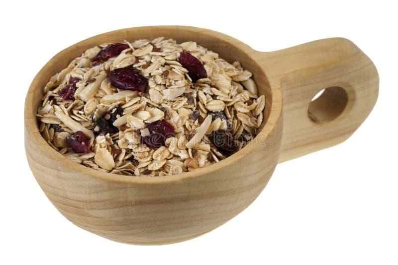 Colher do cereal do muesli fotografia de stock