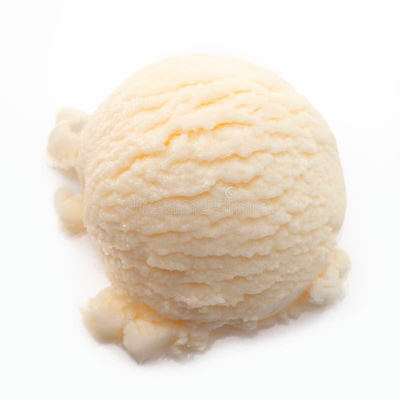 Colher do gelado da banana fotografia de stock royalty free