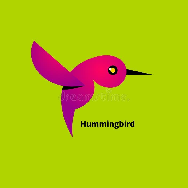 Colibrì rosa illustrazione vettoriale
