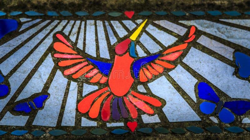 Colibri do mosaico fotos de stock royalty free