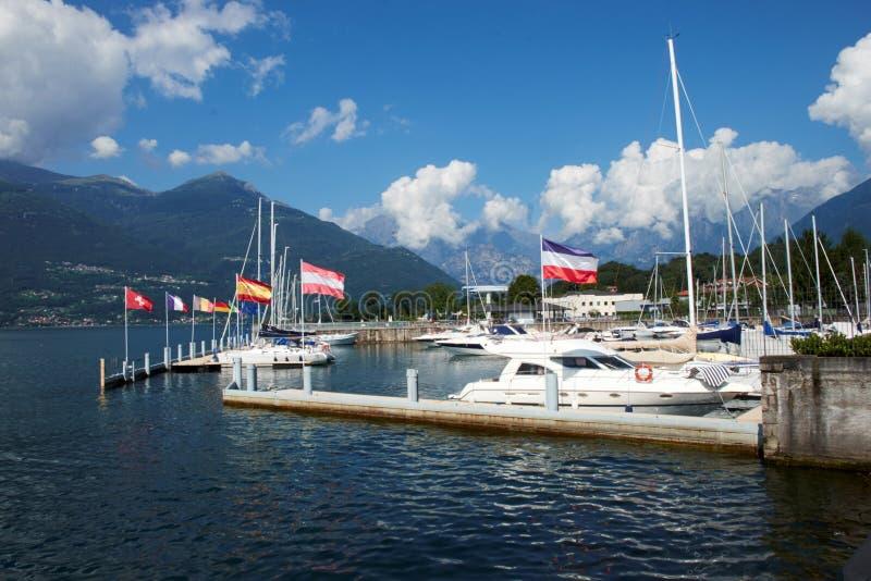 Colico, lago Como immagini stock libere da diritti