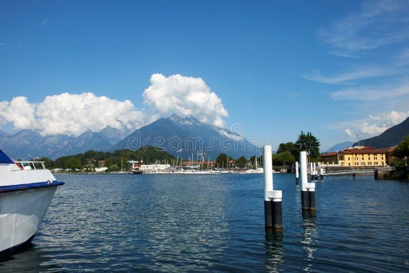 Colico, lago Como fotografia stock libera da diritti