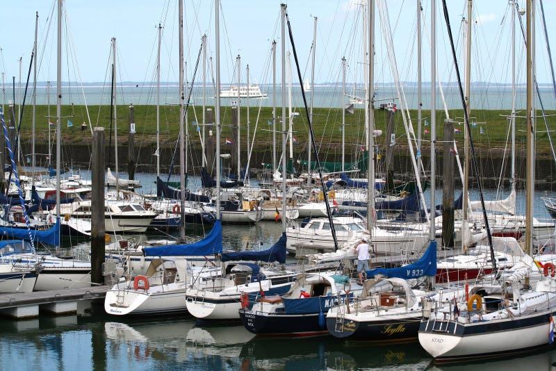 Colijnsplaat marina fotografering för bildbyråer