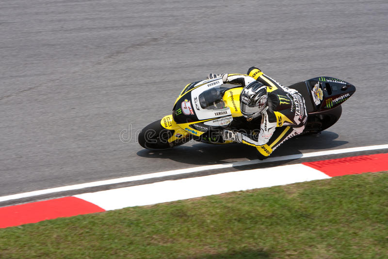 Colin Edwards am ShellMalaysian Motogp lizenzfreie stockfotos