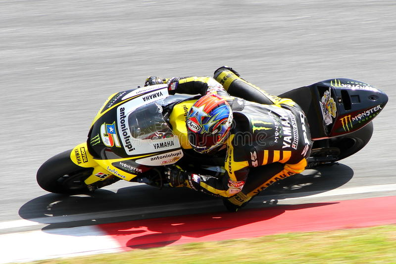 Colin Edwards von Monster-Yamaha-Technologie 3 stockfotos