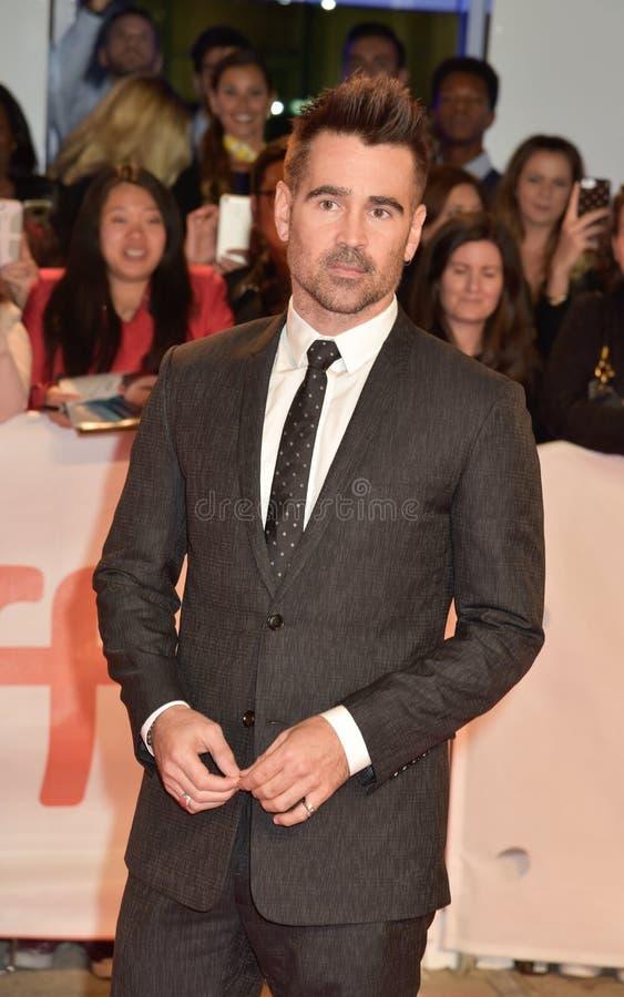 Colin Farrell na premier das viúvas no festival de cinema do International de Toronto fotos de stock