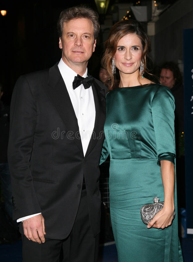 Colin Firth, Livia Giuggioli stockfotografie