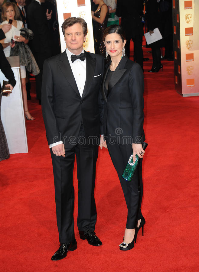 Colin Firth, Livia Giuggioli. Attends the Orange British Academy Film Awards 2012 at the Royal Opera House. February 12, 2012, London, UK Picture: Catchlight stock photos