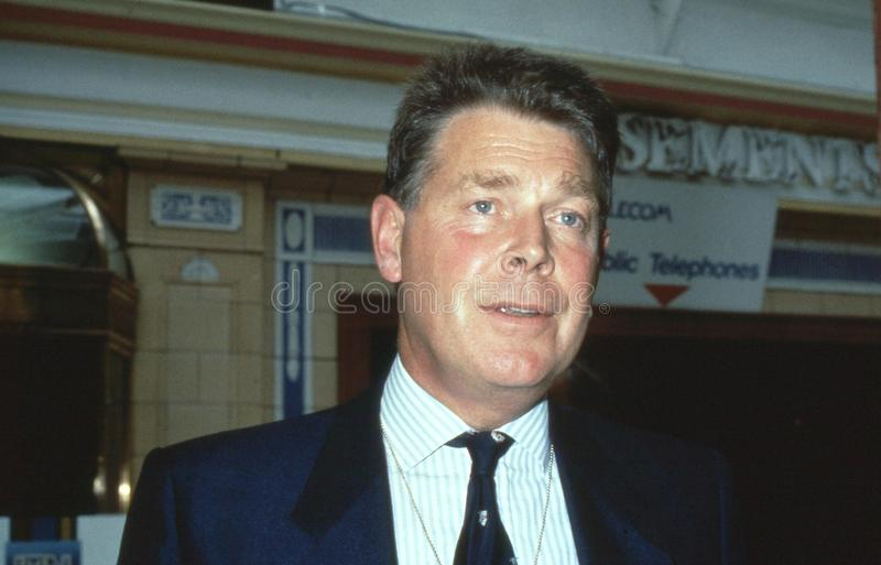 Colin Shepherd. Conservative party Member of Parliament for Hereford, attends the party conference in Blackpool, England on October 10, 1989 royalty free stock image