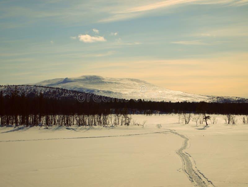 Colina ártica foto de archivo libre de regalías