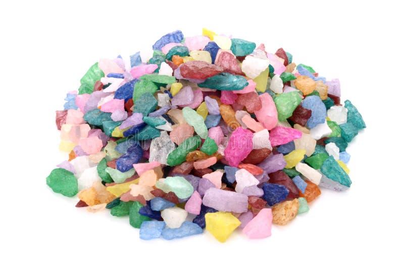 Colina coloreada de las rocas foto de archivo libre de regalías