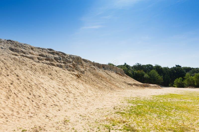Colina de la arena cerca de Emsland, Alemania imágenes de archivo libres de regalías