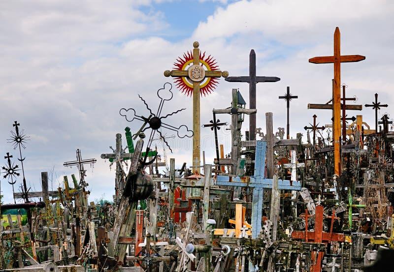 Colina de las cruces, Lituania fotos de archivo libres de regalías