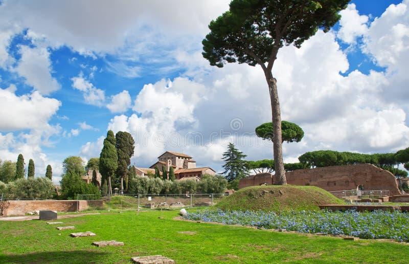 Colina de Palatine en Roma foto de archivo