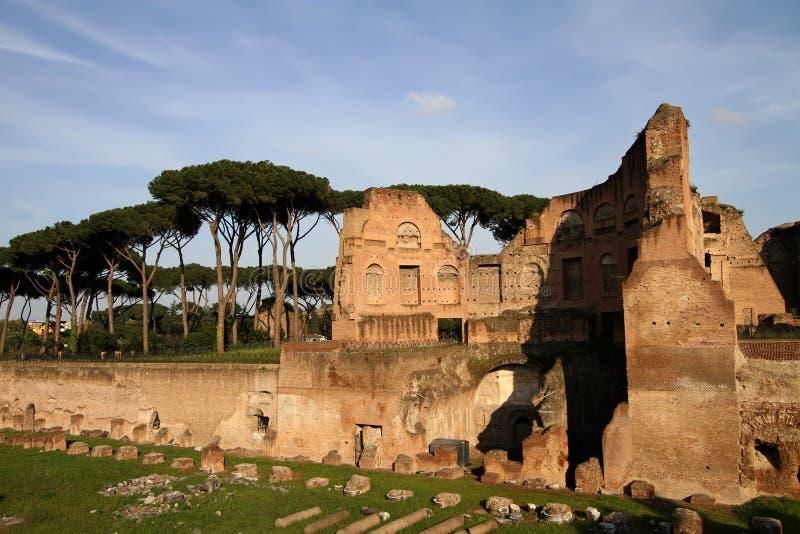 Colina de Palatine, Roma, Italia fotografía de archivo