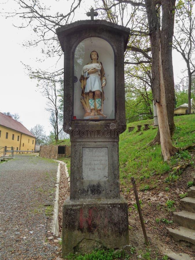 Colina de Pelerin - Maria Radna Franciscan Monastery - Lipova, Arad, Rumania fotografía de archivo