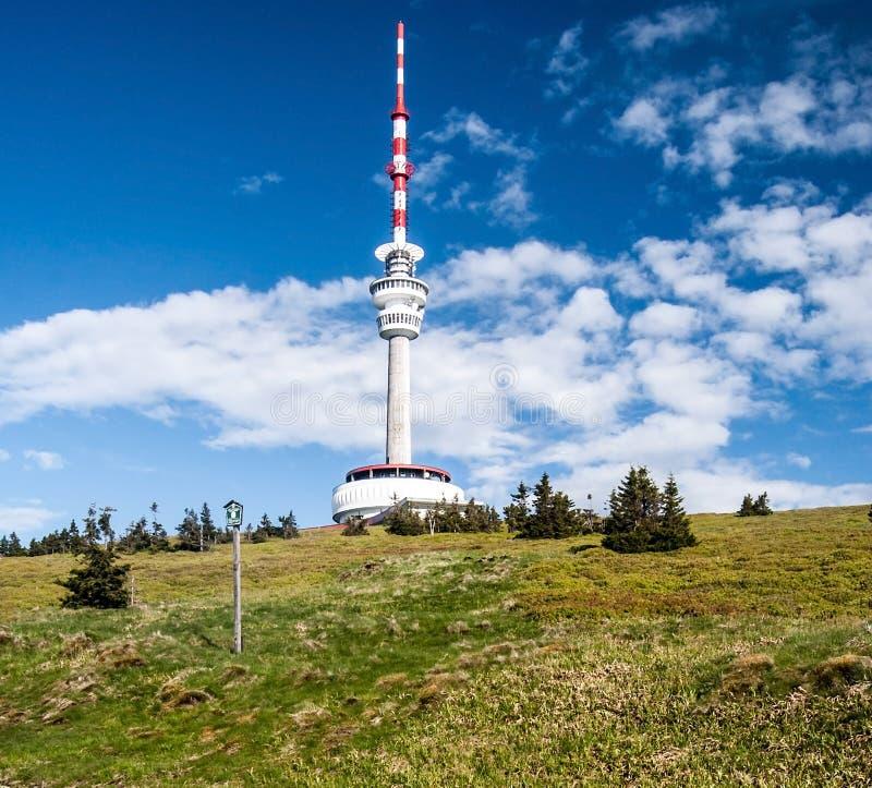 Colina de Praded en las montañas de Jeseniky en República Checa foto de archivo libre de regalías