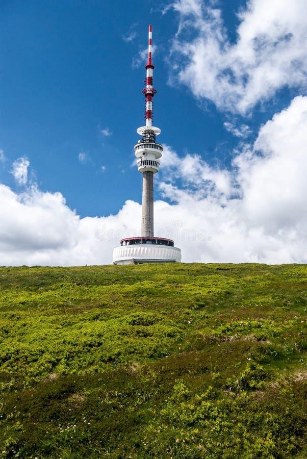 Colina de Praded en las montañas de Jeseniky en República Checa imagen de archivo libre de regalías