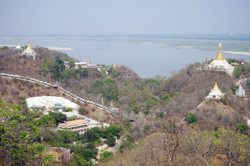 Colina de Sagaing foto de archivo