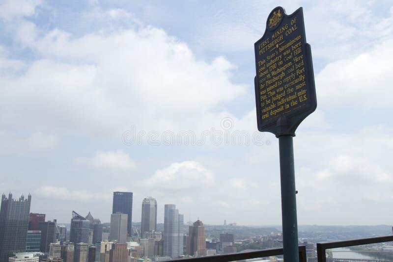 Colina del carbón, Mt Washington, Pittsburgh, PA foto de archivo libre de regalías