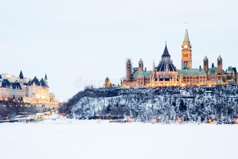 Colina del parlamento de Ottawa foto de archivo libre de regalías