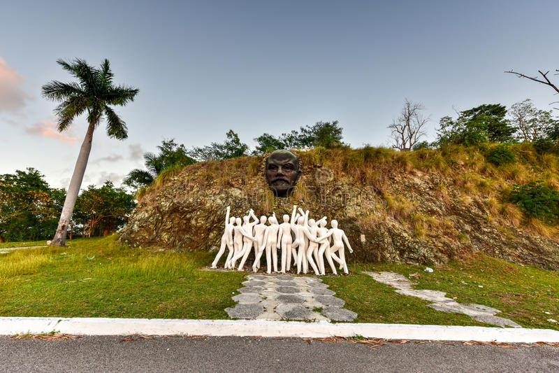 Colina Lenin Lenin Hill - Regla, Havana, Kuba lizenzfreies stockbild
