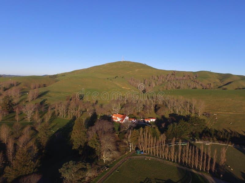 Colina Nueva Zelanda de Benits imagen de archivo