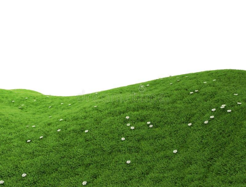 Colina verde aislada libre illustration