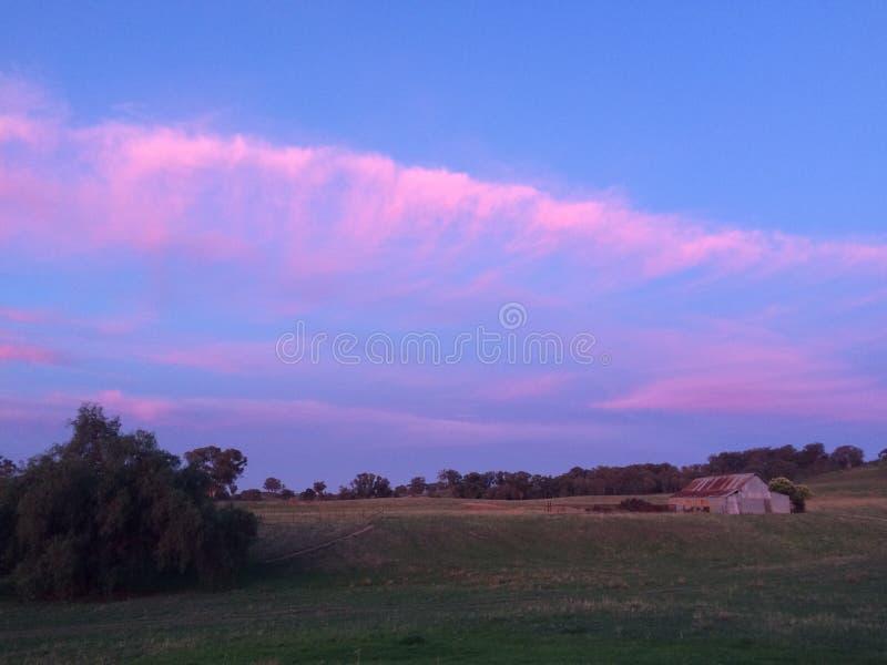 Colinas de la puesta del sol del balanceo fotos de archivo libres de regalías