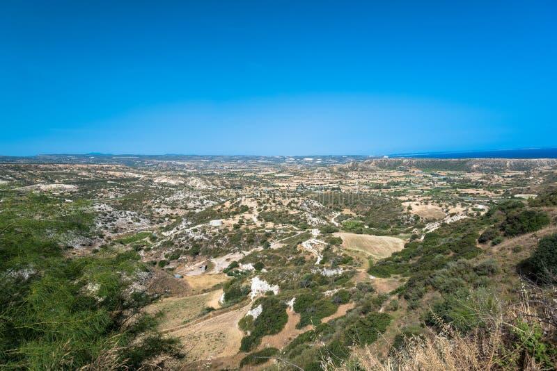 Colinas de Pissouri, Chipre foto de archivo libre de regalías