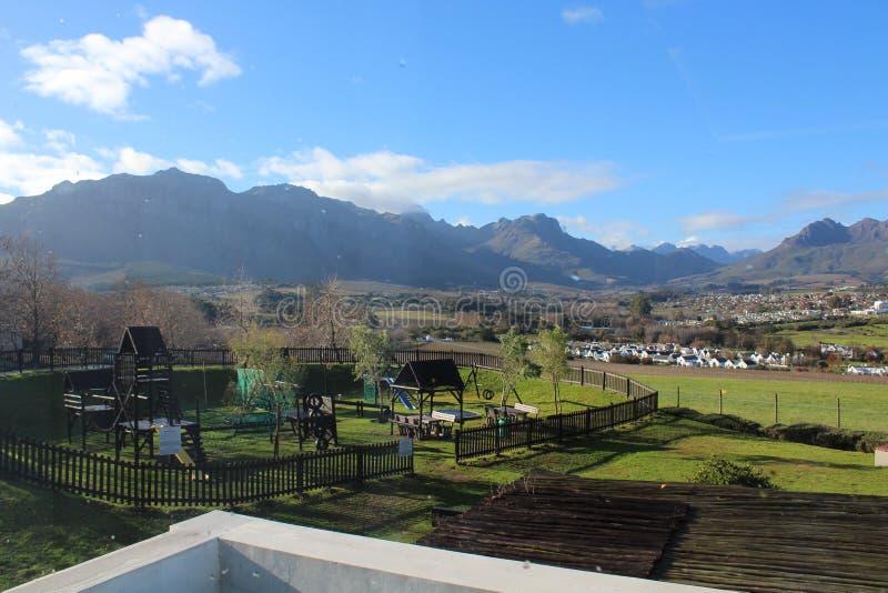 Colinas de Stellenbosch imagen de archivo libre de regalías