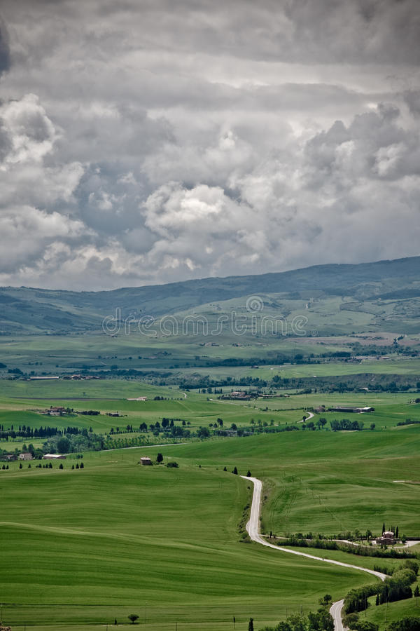 Colinas de Toscana imagen de archivo libre de regalías