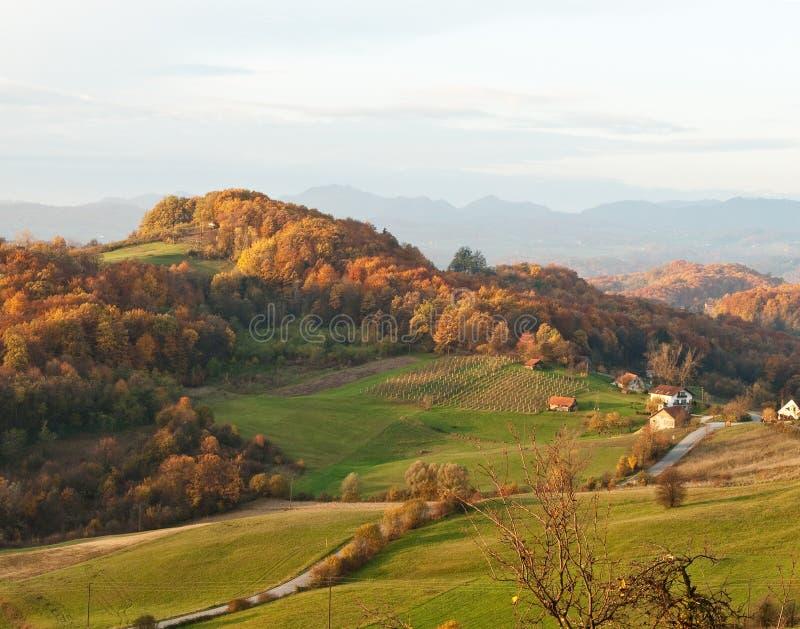 Colinas del otoño imagen de archivo libre de regalías