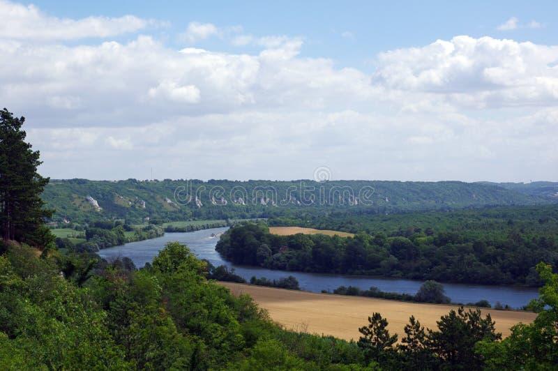 Colinas del río Sena foto de archivo libre de regalías