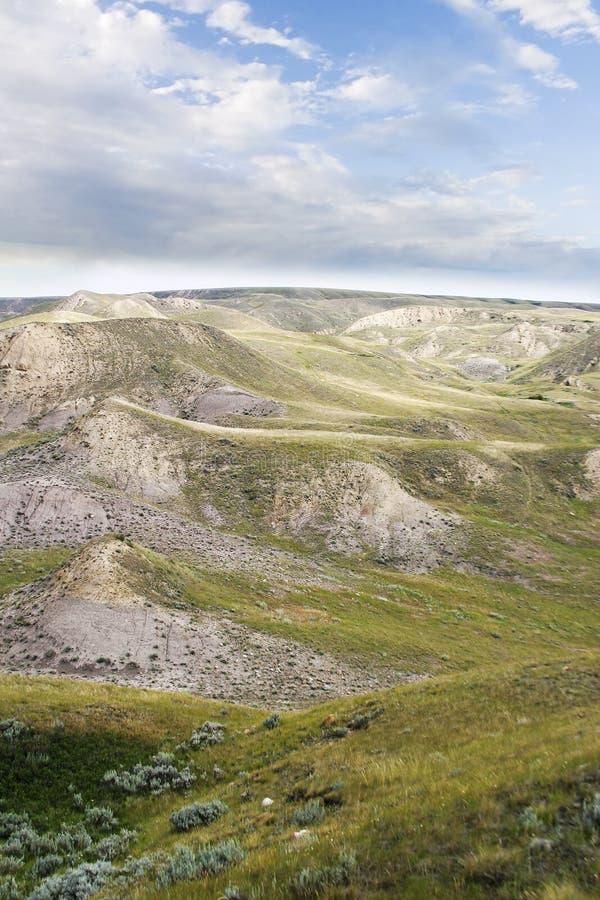 Colinas del sur del río de Saskatchewan imagenes de archivo