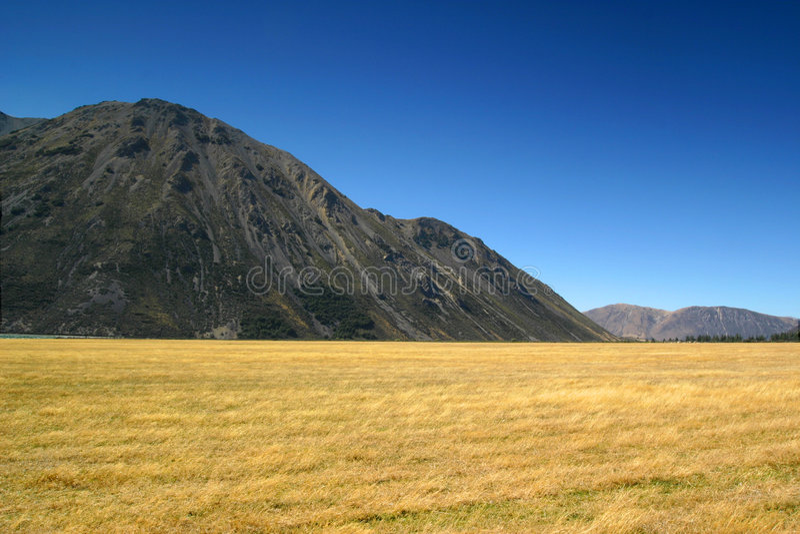 Colinas en el paso de Arthus, Nueva Zelandia imágenes de archivo libres de regalías