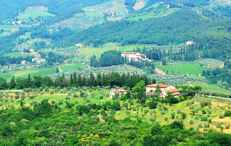 Colinas en Toscana imagenes de archivo