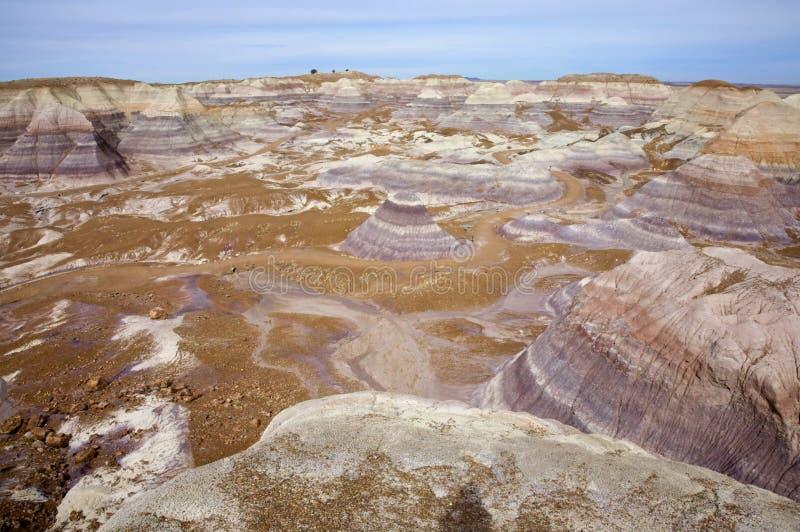 Colinas pintadas del desierto fotos de archivo