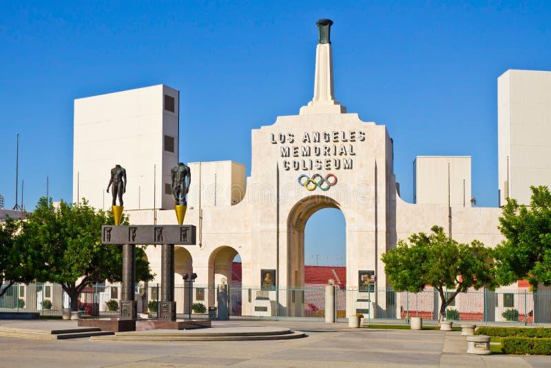 Colisé commémoratif de Los Angeles un temps clair images stock